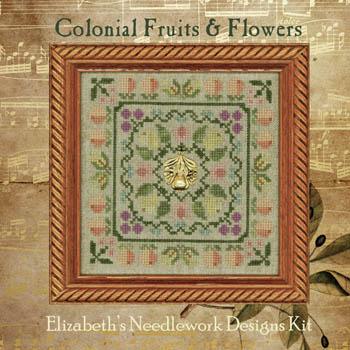 Elizabeth's Designs Needlework Colonial Fruits & Flowers (includes threads & charms)