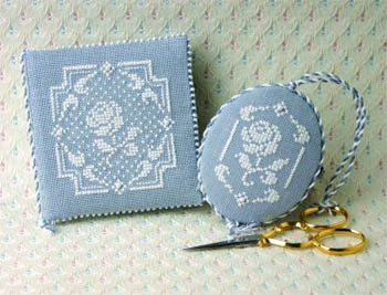 White Rose Needlebook & Fob(Includes Charms) by Sweetheart Tree, The