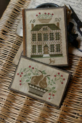 Boxwood Manor Sewing Book & Thread Keep by Stacy Nash Primitives