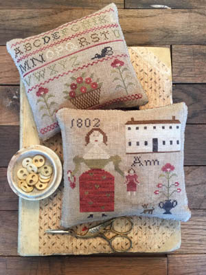 Ann's Sampler Pinkeeps by Stacy Nash Primitives