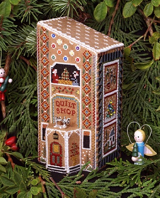 Gingerbread Quilt Shop by The Victoria Sampler
