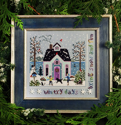 Winter Cottage Sampler by The Victoria Sampler