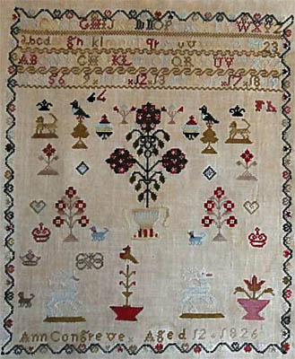 Ann Congreve Sampler by Stacy Nash Primitives