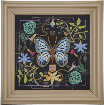 Butterfly In Bloom - Green Banded Blue by Tellin Emblem