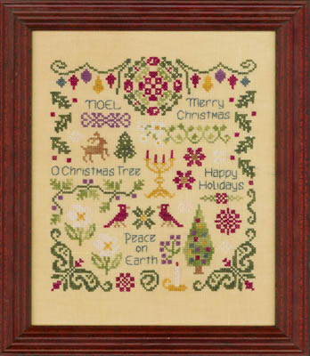 Elizabeth's Designs Needlework Antique Christmas Sampler