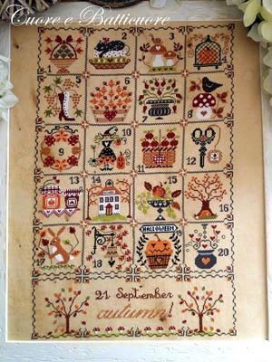 Cuore e Batticuore Shabby Autumn Calendar