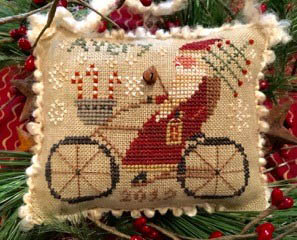 Homespun Elegance Avery's Cycling Santa