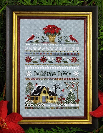 Poinsettia Place Sampler by The Victoria Sampler