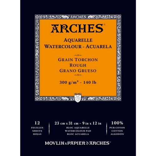 Arches Watercolor Rough Paper Pad 12X9 140lb 12 Sheets