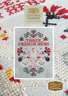 Three French Hens by Cottage Garden Samplings