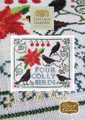 Four Colly Birds by Cottage Garden Samplings