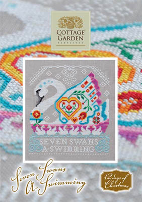 Seven Swans A Swimming by Cottage Garden Samplings