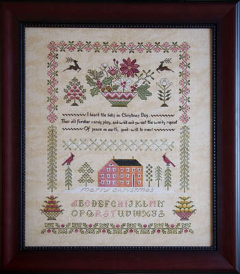 Cottage Garden Samplings Peace On Earth Sampler