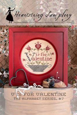 Heartstring Samplery V Is For Valentine