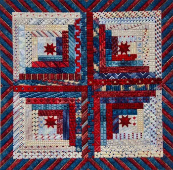 Patriotic Logs by Needle Delights Originals