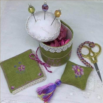 Cherry Blossom Pincushion Sewiing Set by MTV Designs