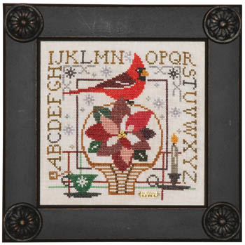 Birdie & Basket Sampler - Poinsettia by Tellin Emblem