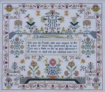 Fanny Covell c.1790 by Queenstown Sampler Designs