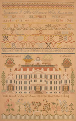 Elizabeth JM Mears 1833 by Queenstown Sampler Designs