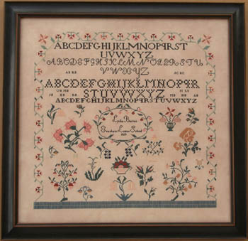 Lydia Borton 1819 by Queenstown Sampler Designs