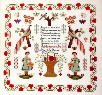 Queenstown Sampler Designs Mary Ann Pearson 1838