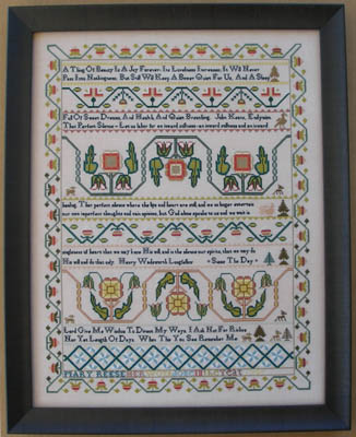 Queenstown Sampler Designs Mary Reese 1785
