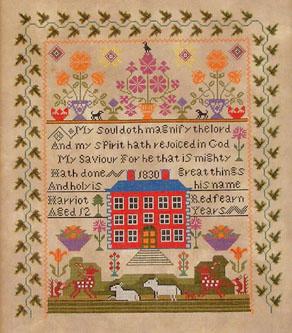 Queenstown Sampler Designs Harriot Redfearn 1830