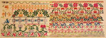 Queenstown Sampler Designs Mexican Garden c1860