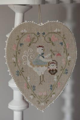 Coeur De Poule Blanche (WhiteHen Heart) by Tralala