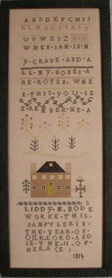 Queenstown Sampler Designs Liddy Rodes Sampler 1814