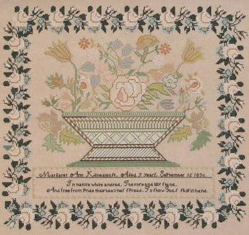 Queenstown Sampler Designs Margaret Ann Klinedienst 1830