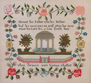 Queenstown Sampler Designs Ann Jordan c.1841