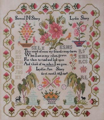 Queenstown Sampler Designs Lydia Sharp 1848