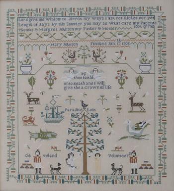 Queenstown Sampler Designs Mary Johnson 1806