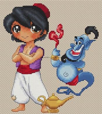 Aladin Et La Lampe Magique by Les Petites Croix De Lucie