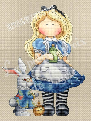 Alice And The Rabbit by Les Petites Croix De Lucie