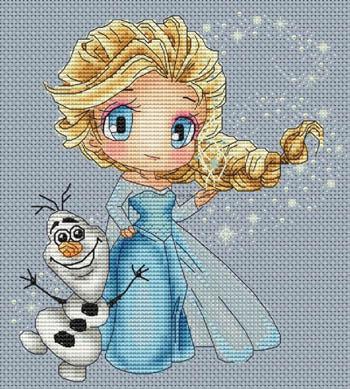 Elsa And Olaf by Les Petites Croix De Lucie