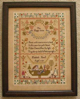 Queenstown Sampler Designs Elizabeth Powell 1819