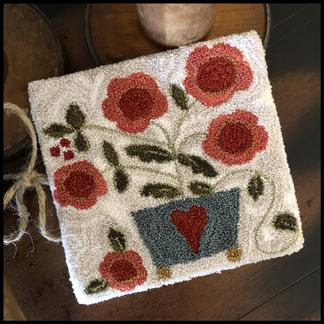Potted Posies Punchneedle by Little House Needleworks