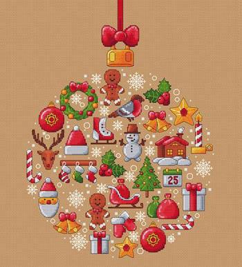 Boule De Noel by Les Petites Croix De Lucie