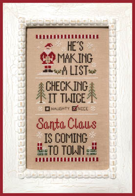 Santa's List by Country Cottage Needleworks