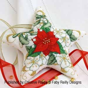 Poinsettia Star Ornament by Faby Reilly Designs