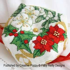 Christmas Wreath Biscornu by Faby Reilly Designs