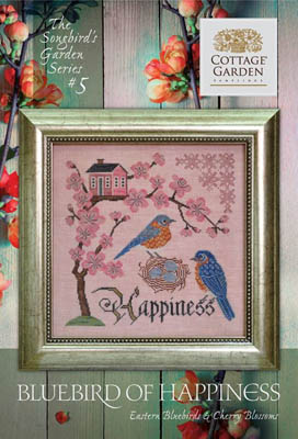 Songbird's Garden 5 - BluebirdOf Happiness by Cottage Garden Samplings