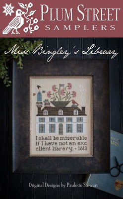 Miss Bingley's Library by Plum Street Samplers