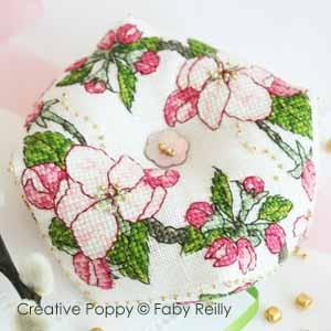Apple Blossom Biscornu by Faby Reilly Designs