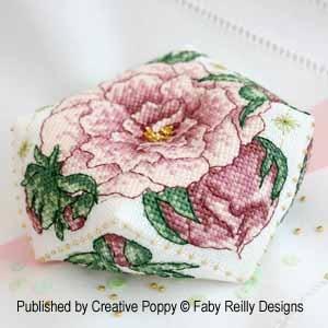 Faby Reilly Designs Peony Biscornu