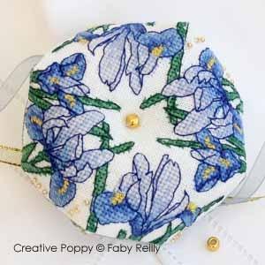 Iris Biscornu by Faby Reilly Designs
