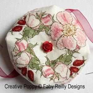 Wild Rose Biscornu by Faby Reilly Designs