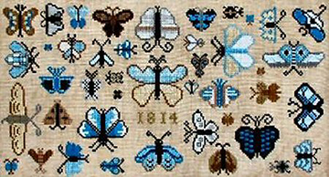 Carriage House Samplings 1814 Butterfly Collection